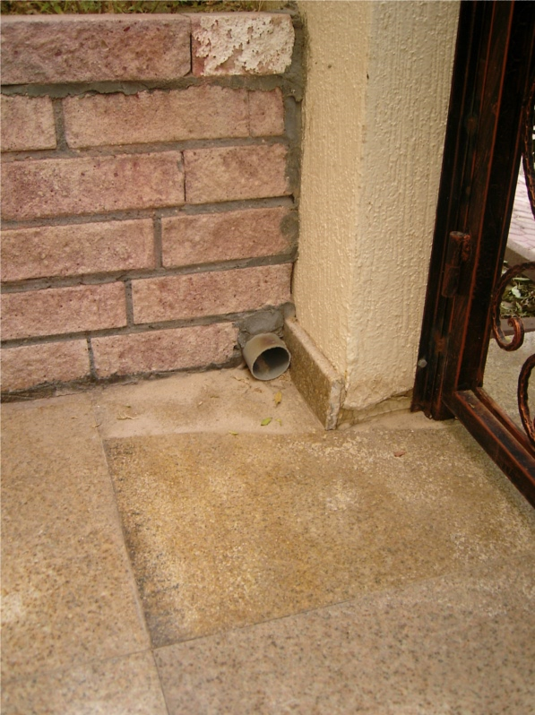 The pipe that the cat was in
